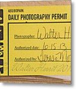 Photo Permit Metal Print