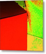 Photo Sketch Abstract 4 - The Paper Series Metal Print