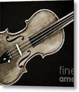 Photograph Of A Complete Viola Violin In Sepia 3370.01 Metal Print