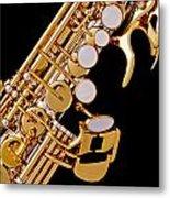 Photograph Of A Soprano Saxophone Color 3355.02 Metal Print