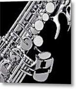 Photograph Of A Soprano Saxophone Sepia 3355.01 Metal Print