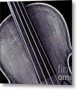 Photograph Of A Upper Body Viola Violin In Sepia 3369.01 Metal Print