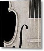 Photograph Of A Viola Violin Side In Sepia 3372.01 Metal Print