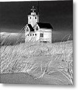 Photograph Of The Lighthouse Big Red In Holland Michigan Metal Print