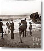 Photographer On The Beach California  Circa 1887 Metal Print