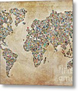 Photographer World Map Metal Print