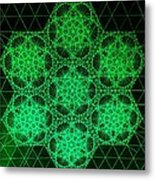 Photon Interference Fractal Metal Print