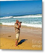 Photorgapher Near The Ocean Metal Print