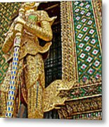 Phra Mondhop At Thai Pagoda At Grand Palace Of Thailand In Bangkok  Metal Print