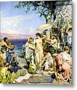 Phryne At The Festival Of Poseidon In Eleusin Metal Print