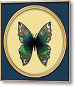 Phthalo Butterfly Metal Print