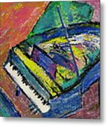 Piano Blue Metal Print