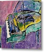 Piano Green Metal Print