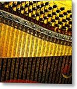 Piano Harp Metal Print