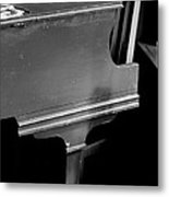 Piano In Black And White Metal Print