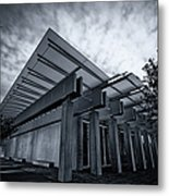 Piano Pavilion Bw Metal Print