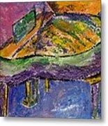 Piano Purple Metal Print