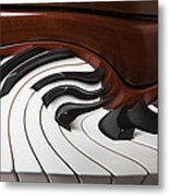 Piano Surrlistic Metal Print by Garry Gay