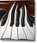 Piano Wave Metal Print