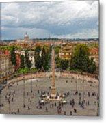 Piazza Del Popolo - Impressions Of Rome Metal Print