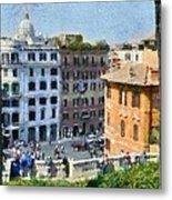 Piazza Di Spagna In Rome Metal Print