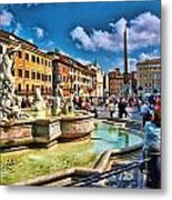 Piazza Navona - Rome Metal Print