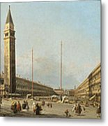 Piazza San Marco Looking South And West Metal Print