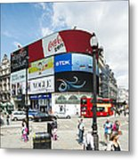 Picadilly Circus London Metal Print