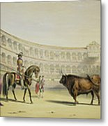 Picador Challenging The Bull, 1865 Metal Print