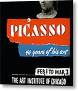 Picasso 40 Years Of His Art  Metal Print