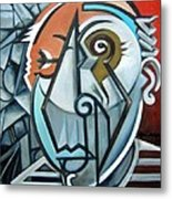 Picasso Bust Metal Print