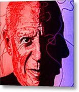 Picasso In Light Sketch 2 Metal Print