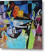 Picasso   Night Fishing At Antibes Metal Print