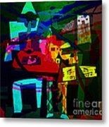 Picasso With A Twist Of Color. Metal Print