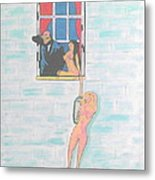 Picasso With Two Lesbians Metal Print