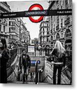 Piccadilly Circus Tube Station Entrance Metal Print