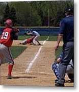 Pick Off Attempt At 1st Base Metal Print