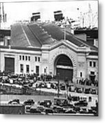 Pickets At The Sf Docks. Metal Print