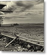 Picketts Charge The Angle Black And White Metal Print