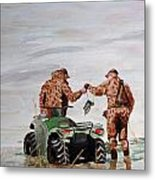 Picking Up The Decoys Metal Print