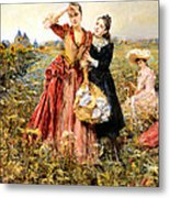 Picking Wildflowers Metal Print