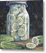 Pickled Cucumbers Metal Print