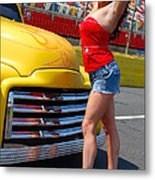 Pickup Pinup Metal Print by Mark Spearman