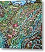 Picnic By The Lake Metal Print by Matthew  James