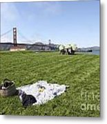 Picnicking At Golden Gate Park Metal Print