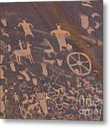 Pictographs 1 Metal Print