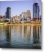 Picture Of Cincinnati Skyline And Ohio River Metal Print
