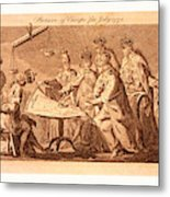 Picture Of Europe For July 1772, Catherine II Metal Print