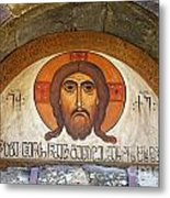 Picture Of Jesus Inside The Tsminda Sameba Cathedral Tbilisi Metal Print by Robert Preston