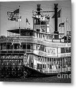 Picture Of Natchez Steamboat In New Orleans Metal Print by Paul Velgos